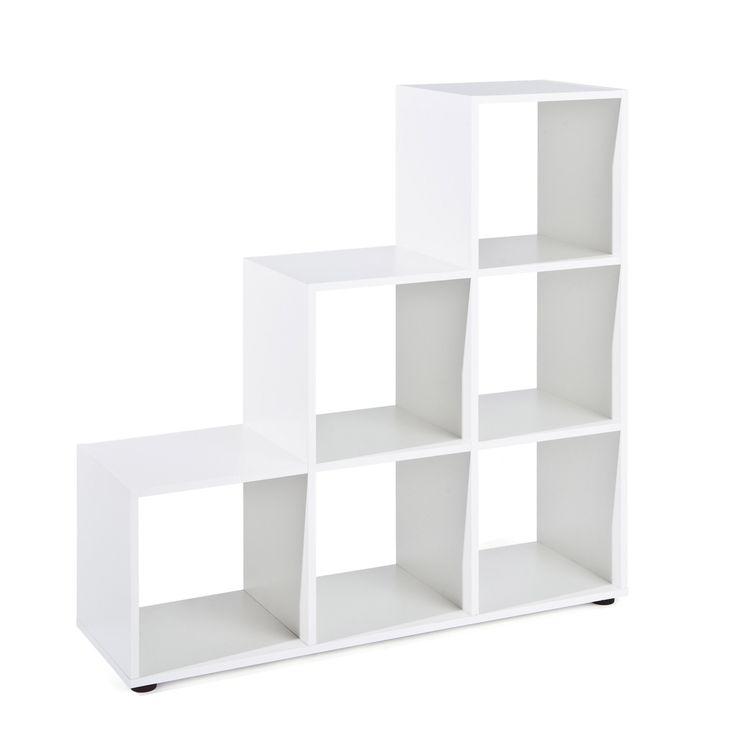 Raumteiler-Regal Cadore (weiß, 6 Fächer) Jetzt bestellen unter: https://moebel.ladendirekt.de/wohnzimmer/regale/raumteiler/?uid=093179f9-2135-5a0e-b901-bf6053294eb7&utm_source=pinterest&utm_medium=pin&utm_campaign=boards #wohnzimmer #raumteiler #regale
