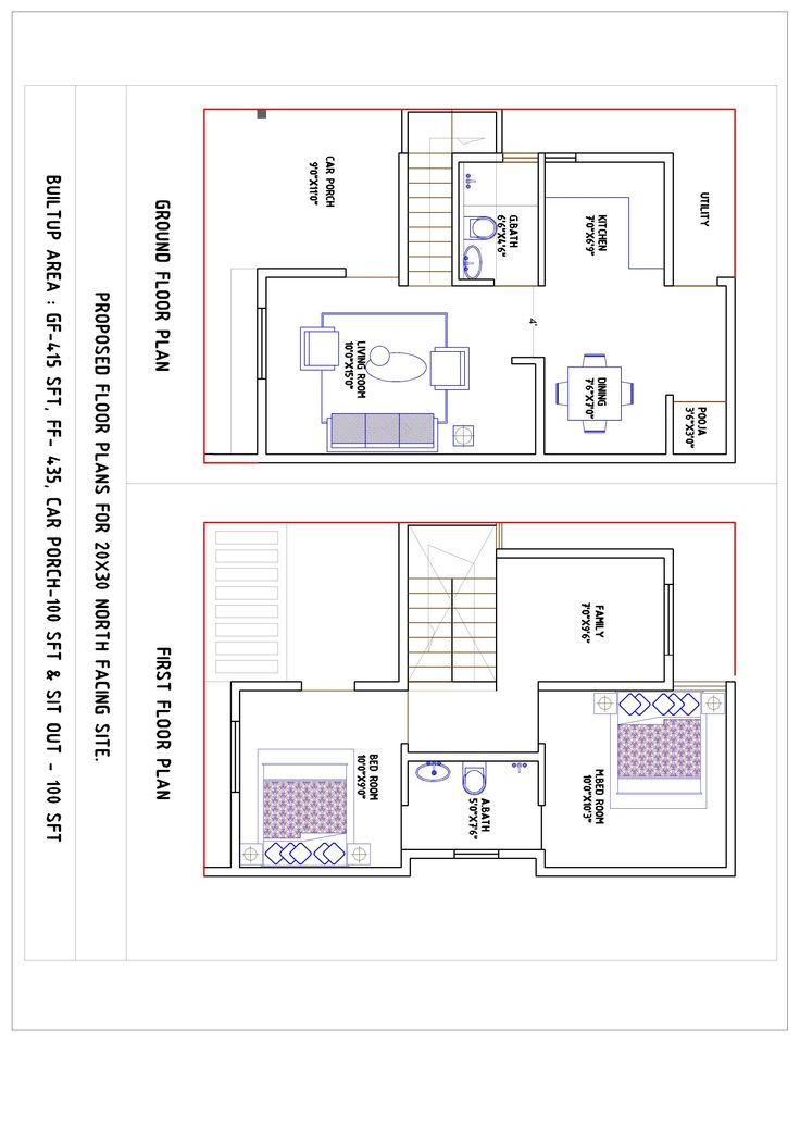20 X 30 House Plans Amazing Chic 16 North Facing 20x30 Tiny Extraordinary House Plan Gallery House Plans 20x30 House Plans