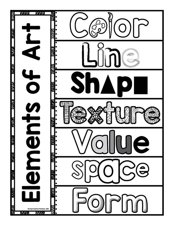 Elements of Art Interactive Page.  Use this page to create interactive flaps for students to put the definitions under each word.  Reinforce the definitions of the Elements of Art through a hands on activity.