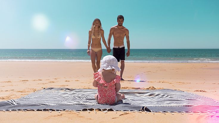 FUTAH BEACH TOWELS | SALGADOS GREY | beach towel | summer essentials