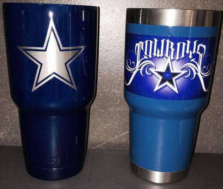 30oz Yeti Cup With Dallas Cowboys Design Lonestar Concepts