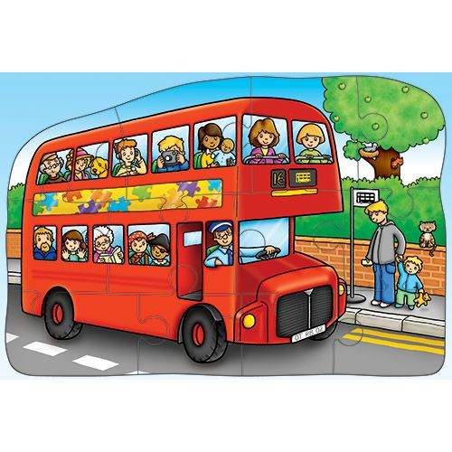 Little Bus Double-Sided Puzzle