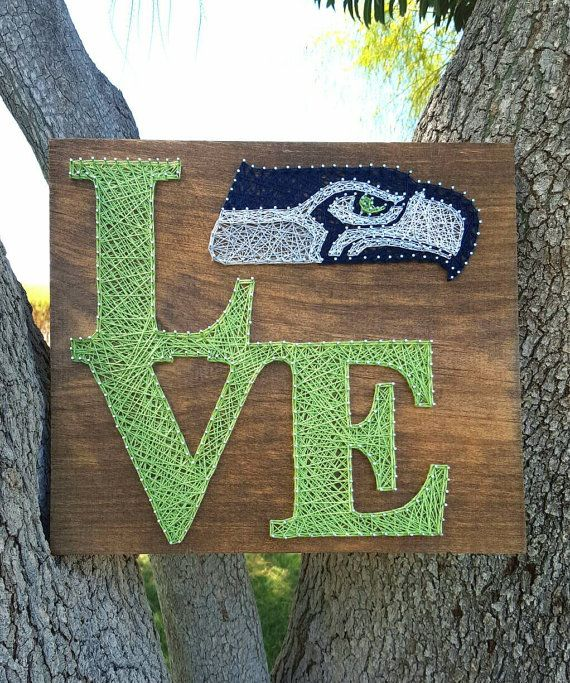 Seattle Seahawks Love String Art by SBPersonalCreations on Etsy