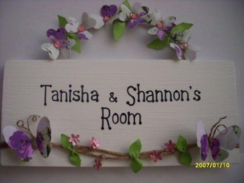 PERSONALISED Childrens name plaque SIGN Butterflies   Flowers Girl Bedroom  Door   Name plaques   Pinterest   Bedroom doors. PERSONALISED Childrens name plaque SIGN Butterflies   Flowers Girl