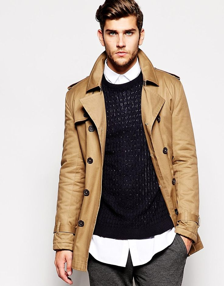 image 1 of asos trench coat fashion for m and w. Black Bedroom Furniture Sets. Home Design Ideas