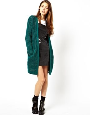 Longline Cardigan in Chunky Stitch