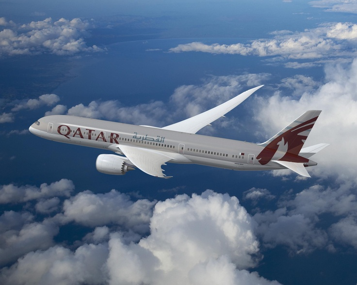 Qatar Airways Boeing 787-900. Qatar Airways is the first Middle East customer of the Boeing 787, with 60 aircraft on order, including options. The Doha-based airline is preparing to take delivery of five 787s during 2012, with the first set to arrive in Qatar this summer.