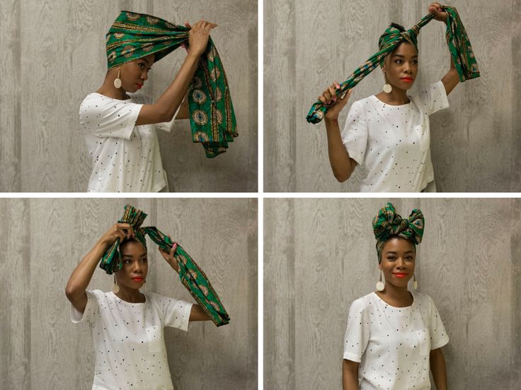 Four exciting ways to tie a head wrap