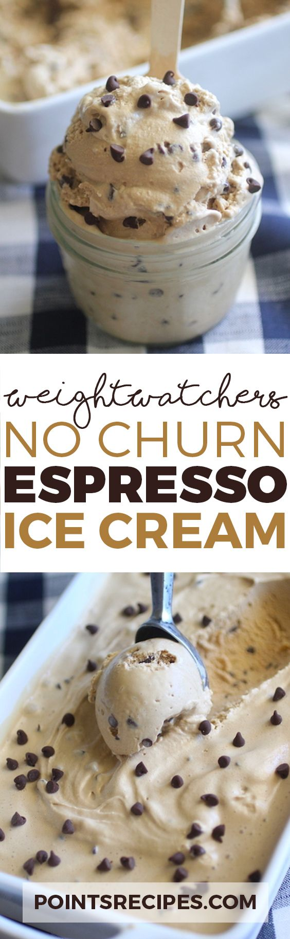 No Churn Espresso Ice Cream (Weight Watchers Smartpoints)