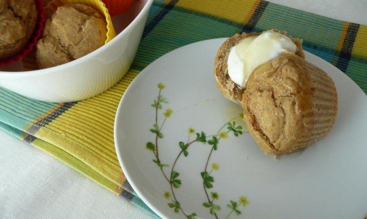 Bimby Vegetariana - Queques de banana com mel e iogurte grego sem açucar