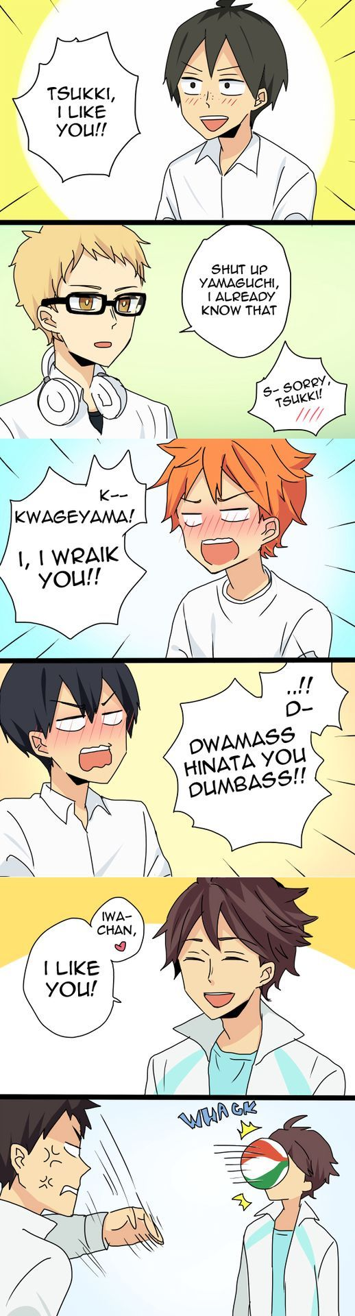 Yams, it's not good lying to yourself like that. You don't like Tsukki, you LOVE him.