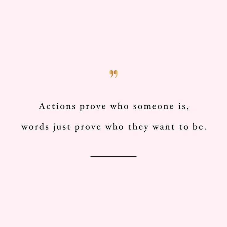 Actions prove who someone is! Browse our collection of inspirational health and wellness quotes and get instant self-love and fitness motivation. Stay focused and get fit, healthy and happy!