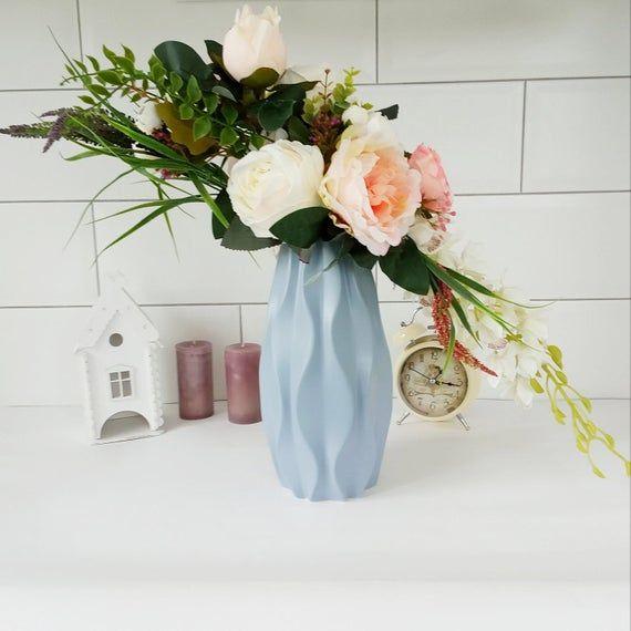 Artificial Flowers Arrangement Fake Flowers Bouquet Vase Dining Room Table Centerpiece Silk Flow Flower Arrangements