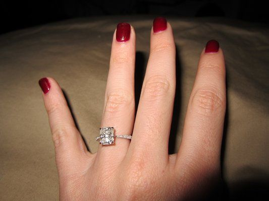thin band emerald cut rings the o