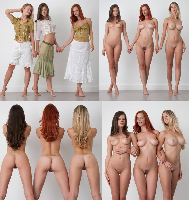 Nude women clothed vs unclothed