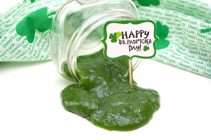 St. Patrick's Day Green Edible Slime Recipe - Views From a Step Stool Edible slime recipe made from just a few kitchen ingredients. Perfect as sensory play for toddlers. Excellent kids activity to celebrate St. Patrick's Day!