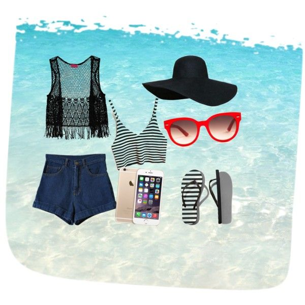 Beach by lucywerta on Polyvore featuring polyvore fashion style Boohoo Abercrombie & Fitch Equipment