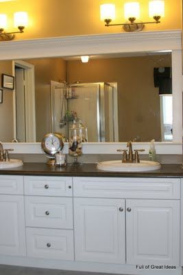 Perfect Bathroom Mirror Frames, Bath Mirrors, Diy Bathroom Remodel, Bathroom  Makeovers, Framing Mirrors, Bathroom Updates, Bathroom Ideas, Builder  Grade, ...