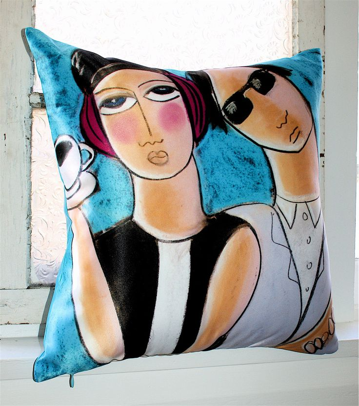 Espresso & Jazz! That's all. Inspired by the MOD, this cushion art is truly a collectors item & limited edition.