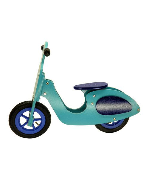 For when we have a toddler?  Made to help little ones master balance, this eco-friendly scooter helps kids zoom with confidence. The innovative design features a nontoxic birch wood frame that boasts comfort handlebar grips, and sturdy rubber tires provide a steady ride. The adjustable seat and frame allows for kids of various sizes and ages to ride the same scooter, and the foot-to-ground motion makes transitioning to a pedal bike a snap!