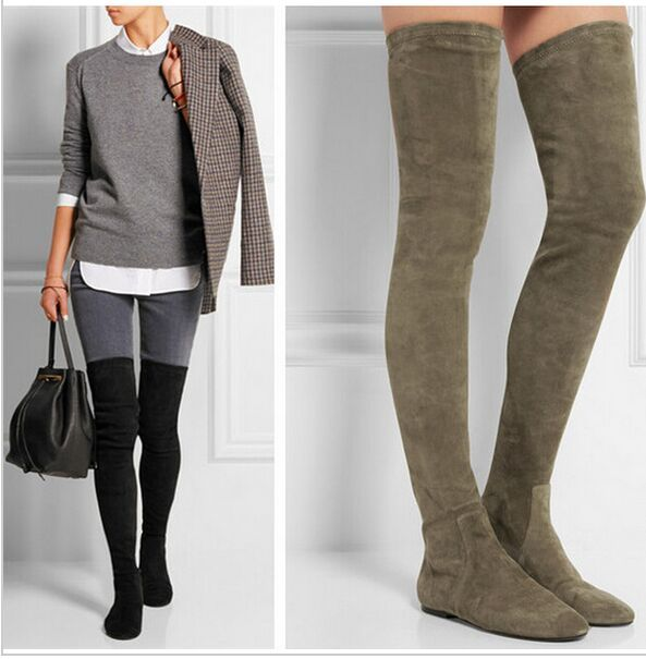 1000  ideas about Stretch Thigh High Boots on Pinterest | Thigh
