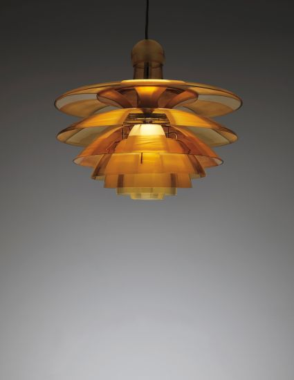 Poul Henningsen Large and early 'Septima' ceiling light, type 5, circa 1929