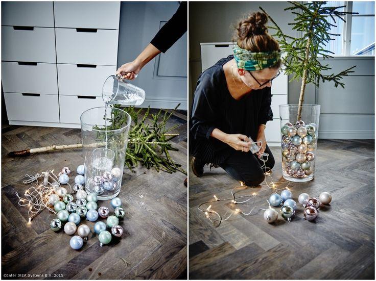 Cu puțină creativitate, pomul de Crăciun poate arăta cum vrei tu.