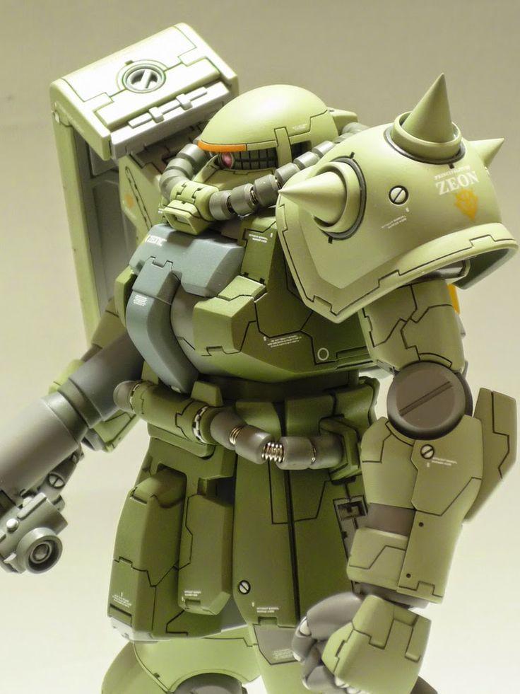 HGUC 1/144 Zaku II F2 Custom Build - Gundam Kits Collection News and Reviews