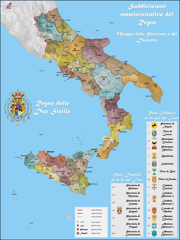 Suddivisione amministrativa del Regno delle Due Sicilie - Reino de las Dos…