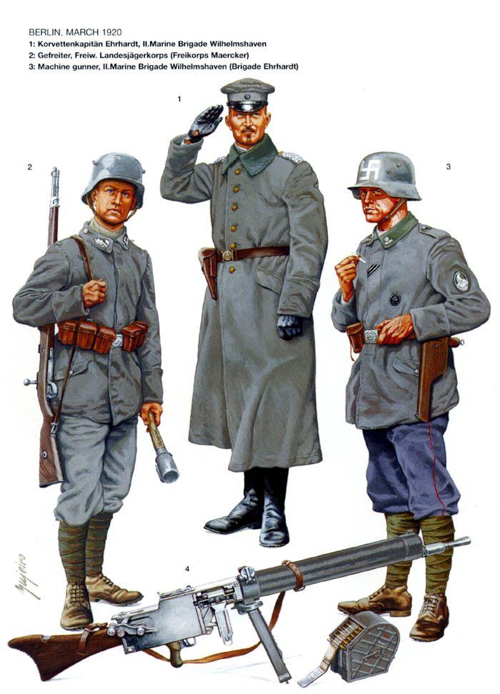 Alemania- Brigada Ehrhardt Marina en Berlín 1920