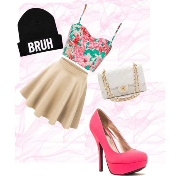 A fashion look from December 2014 featuring Qupid pumps and What Goes Around Comes Around handbags. Browse and shop related looks.