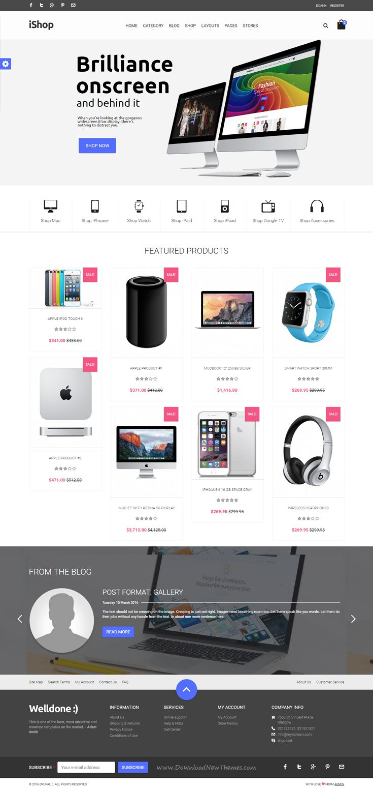 Welldone is responsove premium #Drupal eCommerce Theme comes with 18 premade stunning homepage layouts. #electronics #shop