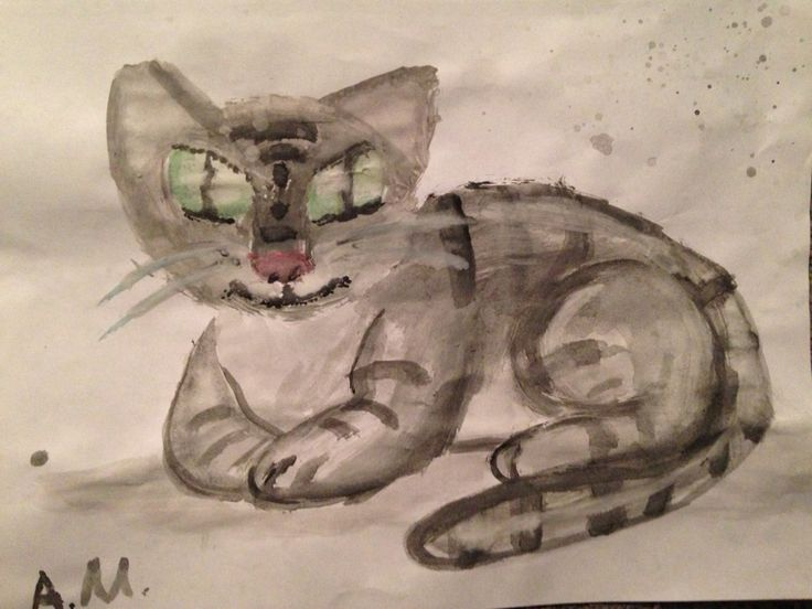 A painting of a cat I did in 2013 #catart