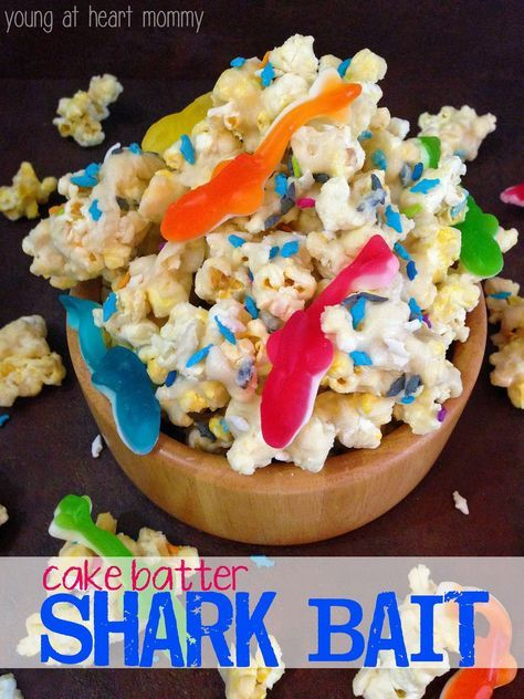 Shark Week Snack For Kids: Cake Batter Shark Bait #SharkBait #CakeBatter #SharkWeek