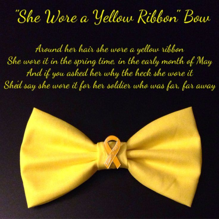 She Wore a Yellow Ribbon Bow by PatrioticBows on Etsy