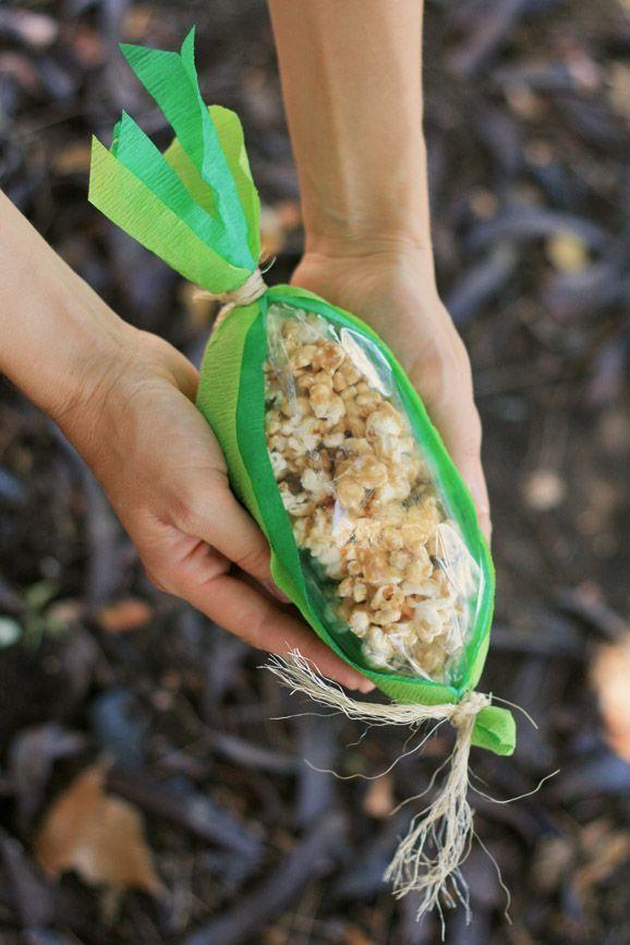 Um milho delicioso para levar para casa. Ideal para uma festa com tema Fazendinha.