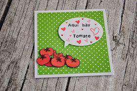 Arcadia de papel: Tarjeta con tomate de Paper Smooches