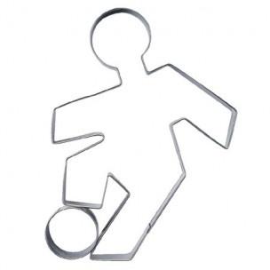 Maak voetbal koekjes met deze voetballer uitsteker.