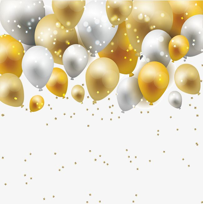 dream gold and silver balloon borders