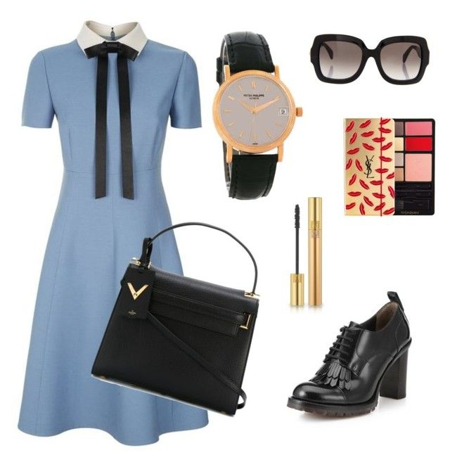 """hi!"" by karinameliala on Polyvore featuring Valentino, Yves Saint Laurent and Patek Philippe"