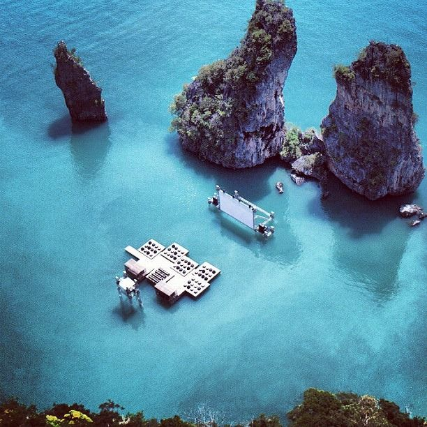 Archipelago Cinema - Thailand's floating movie theatre.