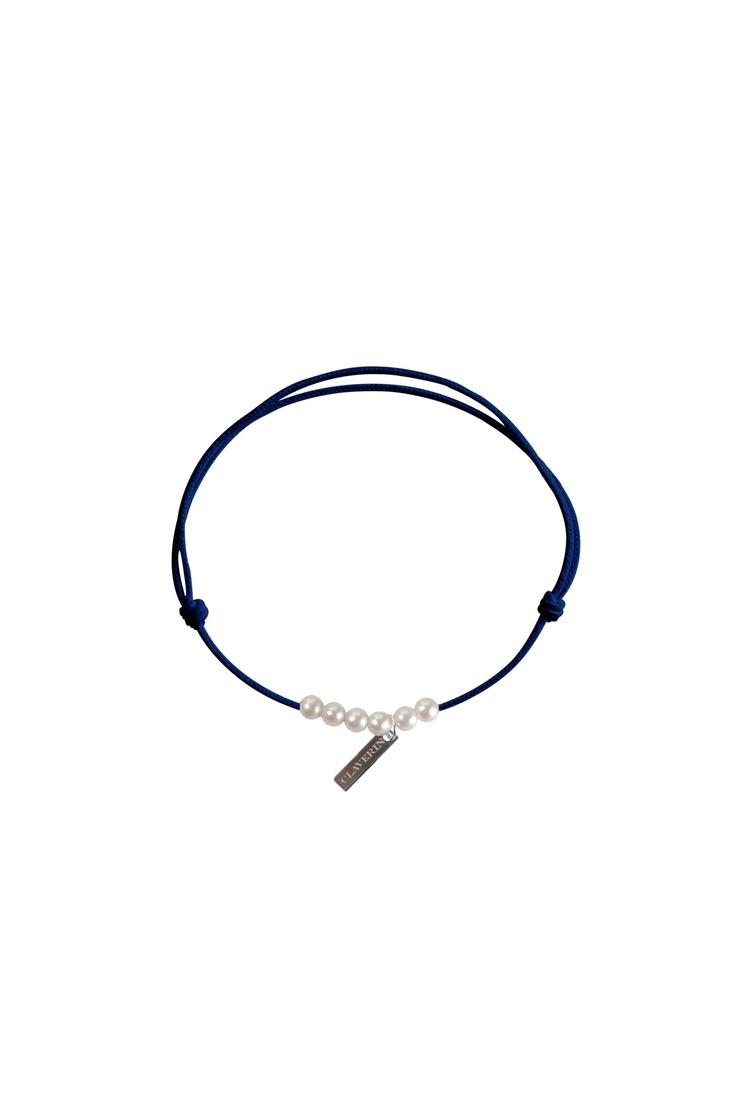 Bracelet avec perles Little treasures Bleu / Marine Claverin sur MonShowroom.com