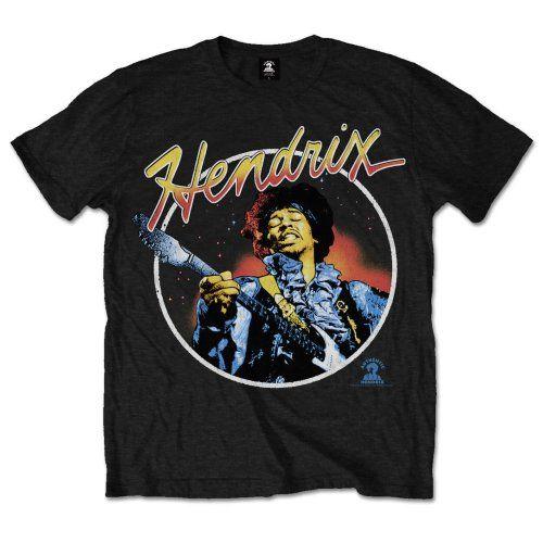 Jimi Hendrix Men's Tee: Script Circle Wholesale Ref:JHXTS06MB