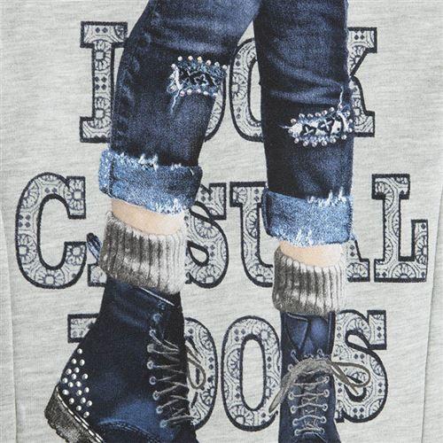 Mayoral Kız Kışlık Uzun Kol S-shirt Kadife Tayt Set Koyu Mavi