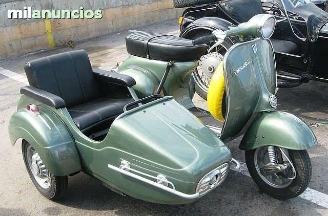 Se Vende Vespa 150S con sidecar de 1963 Moto que nunca se ha dado de baja, siempre en activo. Con homologaci�n de sidecar desde 1963 por lo tanto homologada para tres plazas. Restauraci�n completa 100% profesional en 2012.  ITV al d�a. Se vende por fa