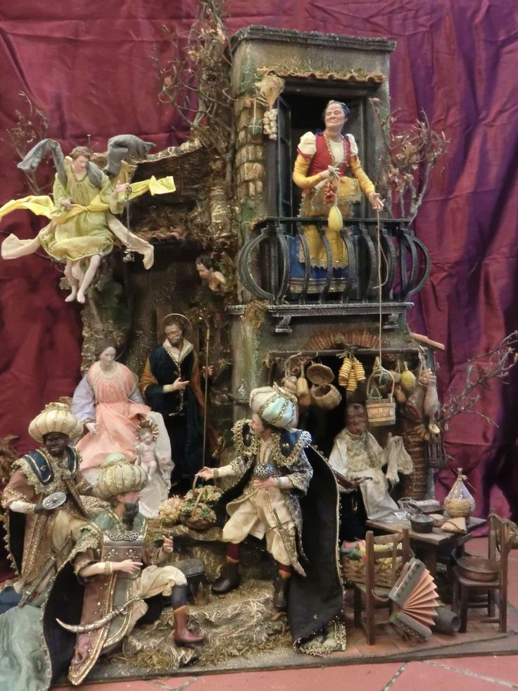 Neapolitan Creche Nativity Nativita' Krippe Scoglio Osteria Presepe Napoletano | eBay