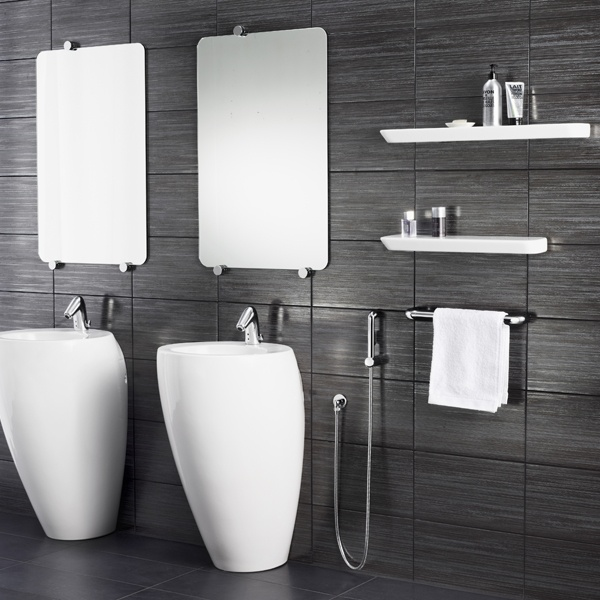 Il Bagno Alessi One bathroom. Faucets: Il Bagno Alessi One by Oras.  Handy multifunctional hand shower Oras Bidetta (for bidet) !