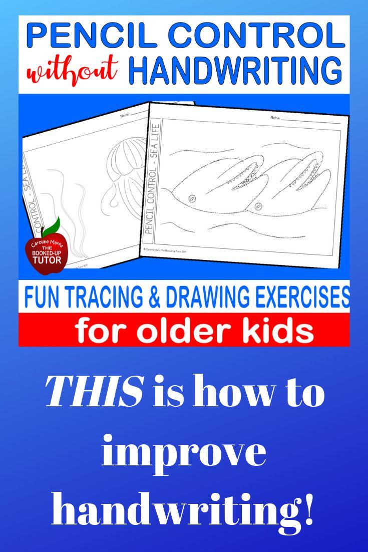 Fine Motor Pencil Control For Older Students Improve Handwriting Nice Handwriting Fine Motor Activities For Kids [ 1102 x 735 Pixel ]