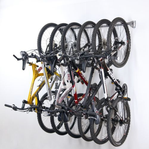 6 Bike Wall Hanger Mounted Garage Shed Storage Bicycle Organization Rack Stand | eBay