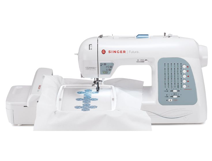 The Singer Futura xl 400 Computerized Sewing Embroidery Machine is part of special package from Sewing machines Plus is packed with goodies. All the Sin...